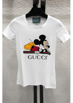 "Брендовая женская футболка ""Mickey"" - White"
