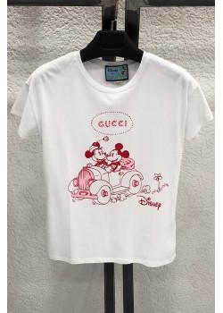 """Брендовая женская футболка """"Mickey and Minnie"""" - White"""