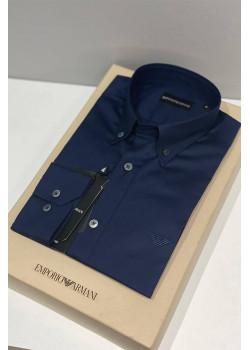 Тёмно-синяя мужская рубашка