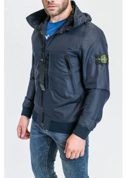 Мужская тёмно-синяя куртка с патчем на плече