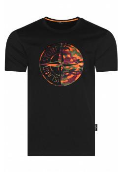 Мужская футболка с логотипом - Black / Orange