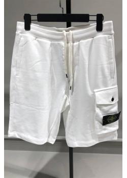 Мужские белые шорты с патчем