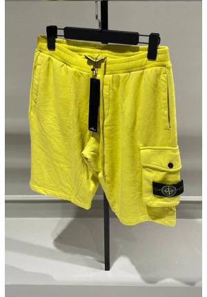 Мужские желтые шорты с патчем