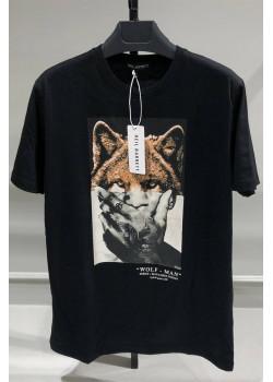 """Мужская футболка """"Wolf"""" - Black"""