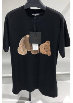 """Женская оверсайз футболка """"Bear"""" - Black"""