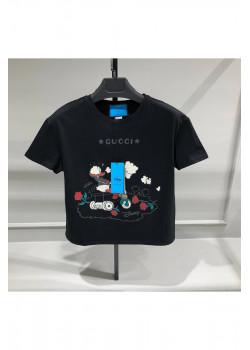 """Женская брендовая футболка """"Donald Duck"""" - Black"""