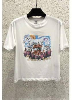 "Женская футболка ""Magic Unicorn"" - White"
