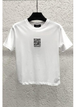"Женская футболка ""QR Code"" - White"