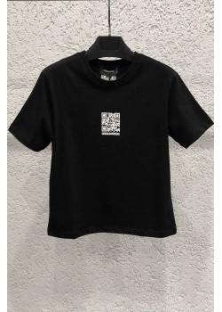 """Женская футболка """"QR Code"""" - Black"""