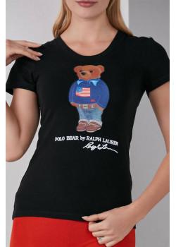"Женская футболка ""Bear"" - Black"