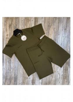 Мужская брендовая футболка - Olive
