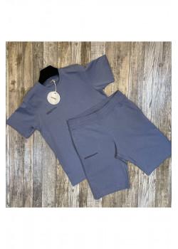 Мужская брендовая футболка - Blue