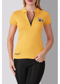 Женское жёлтое поло