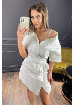 Платье-рубашка  - White