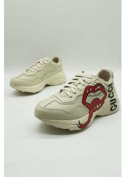 Женские брендовые кроссовки - Beige
