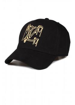 Чёрная брендовая бейсболка