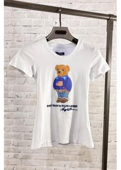 """Женская футболка """"Bear"""" - White"""