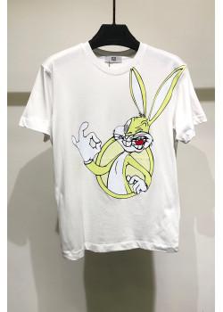 "Женская оверсайз футболка ""Bugs Bunny"" - White"