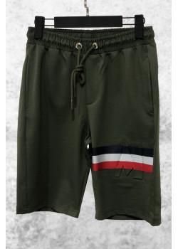 Мужские брендовые шорты зелёного цвета