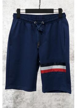 Мужские брендовые шорты тёмно-синего цвета
