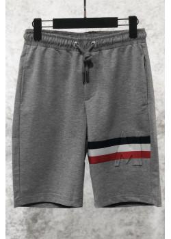 Мужские брендовые шорты серого цвета