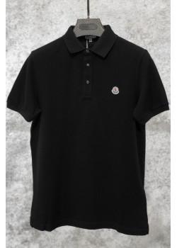 Мужское брендовое поло чёрного цвета