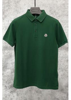 Мужское брендовое поло зелёного цвета