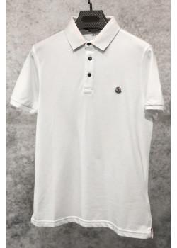 Мужское брендовое поло белого цвета