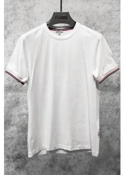 Брендовая мужская футболка белого цвета