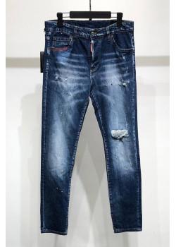 """Мужские синие джинсы Dsquared2 """"Paint Splatter"""""""
