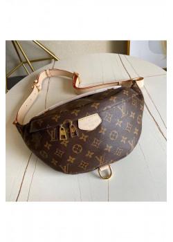 Кожаная сумка на пояс 35x17 см - Brown