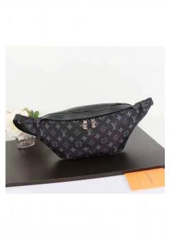 Кожаная сумка на пояс 33x17 см - Black
