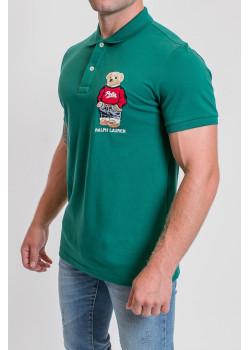 """Мужское зелёное поло """"Bear"""""""