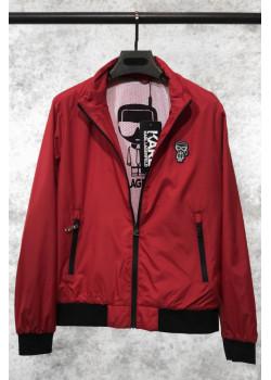 Мужская брендовая ветровка красного цвета