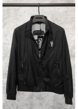 Мужская брендовая ветровка чёрного цвета
