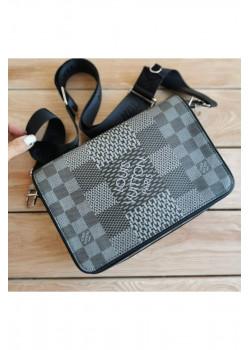 Кожаная брендовая сумка 24x17 см