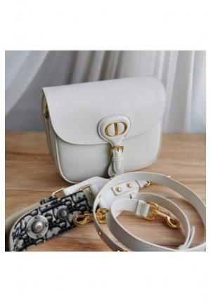 Кожаная сумка 30 Montaigne 23x18 см - White