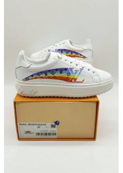 Женские брендовые кроссовки - White / Rainbow