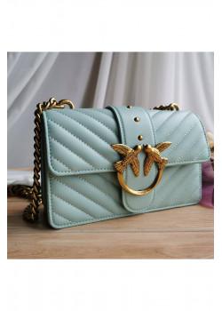 Кожаная сумка 27x17 см - Turquoise