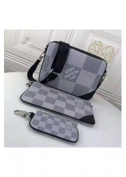Брендовая кожаная сумка 25x18 см - Grey