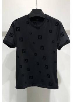 Мужская чёрная футболка с логотипом FF