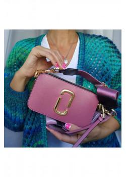 Кожаная сумка 25x16 см - Crimson