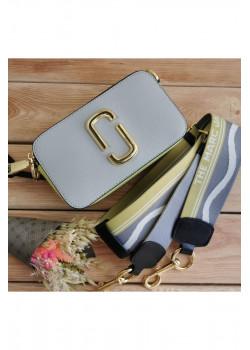 Кожаная сумка 25x16 см - Grey