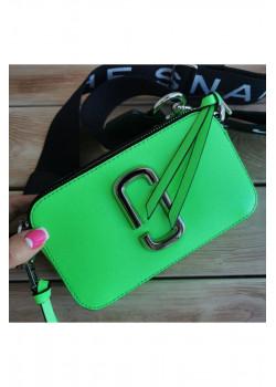 Кожаная сумка 25x16 см - Green