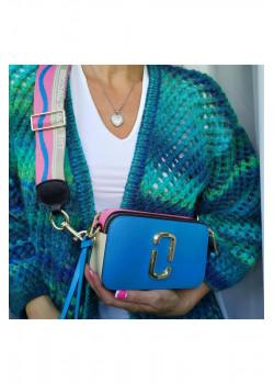 Кожаная сумка 25x16 см - Blue
