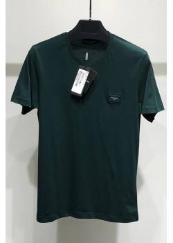 Мужская футболка Logo Plaque - Dark Green