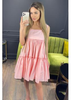 Классическое женское платье розового цвета