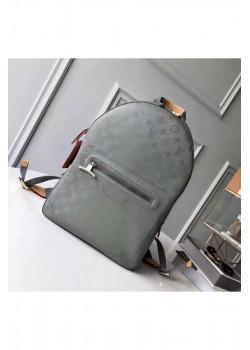 Брендовый кожаный рюкзак 42x32 см - Grey