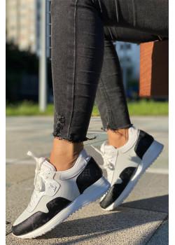 Женские брендовые кроссовки - White / Black