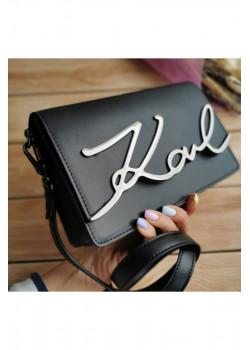 Брендовая кожаная сумка 22x16 см - Black